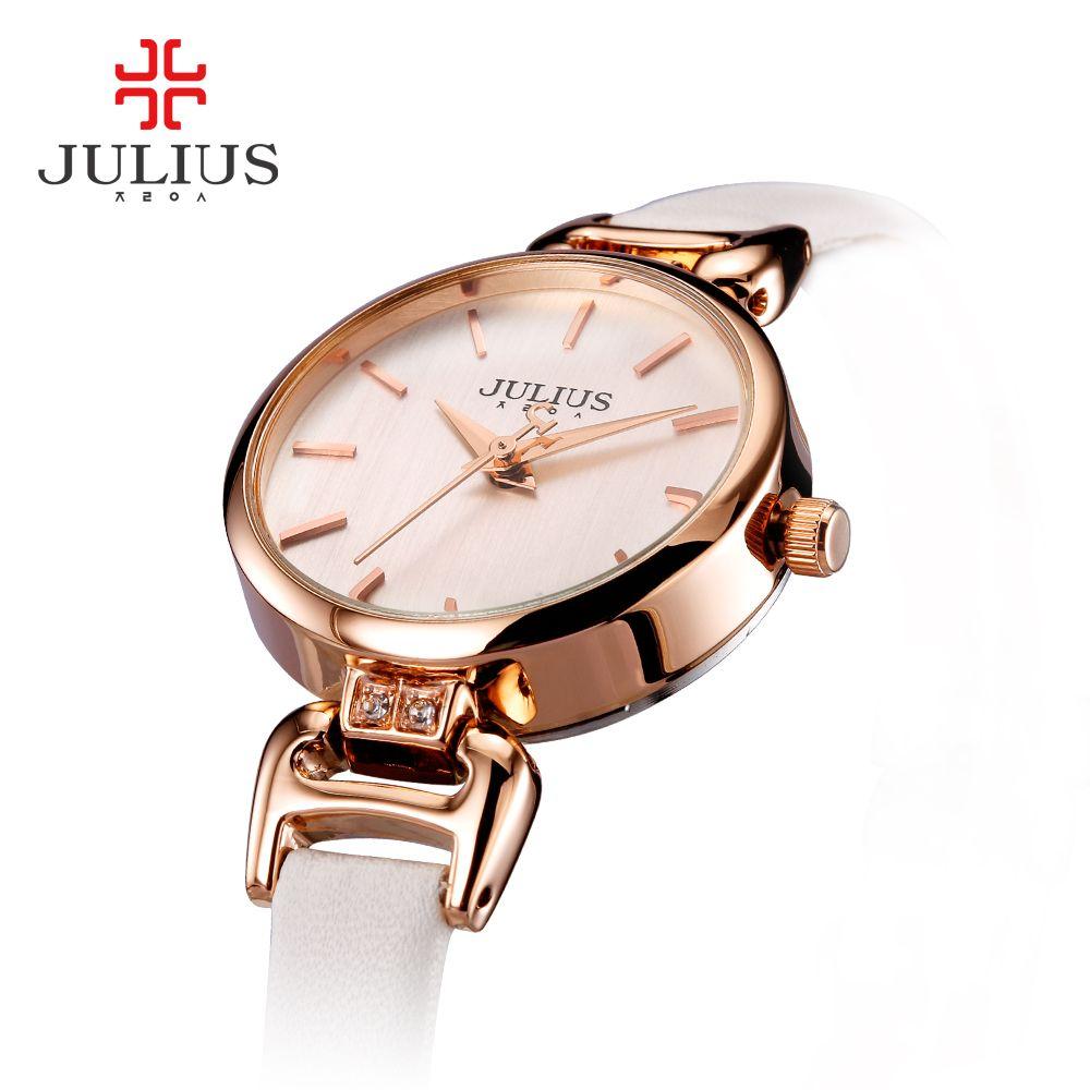 2017 Юлий моды Элитный бренд Для женщин нержавеющая стальная Наручные часы Женская обувь браслет Часы женский Часы Relojes HOMBRE