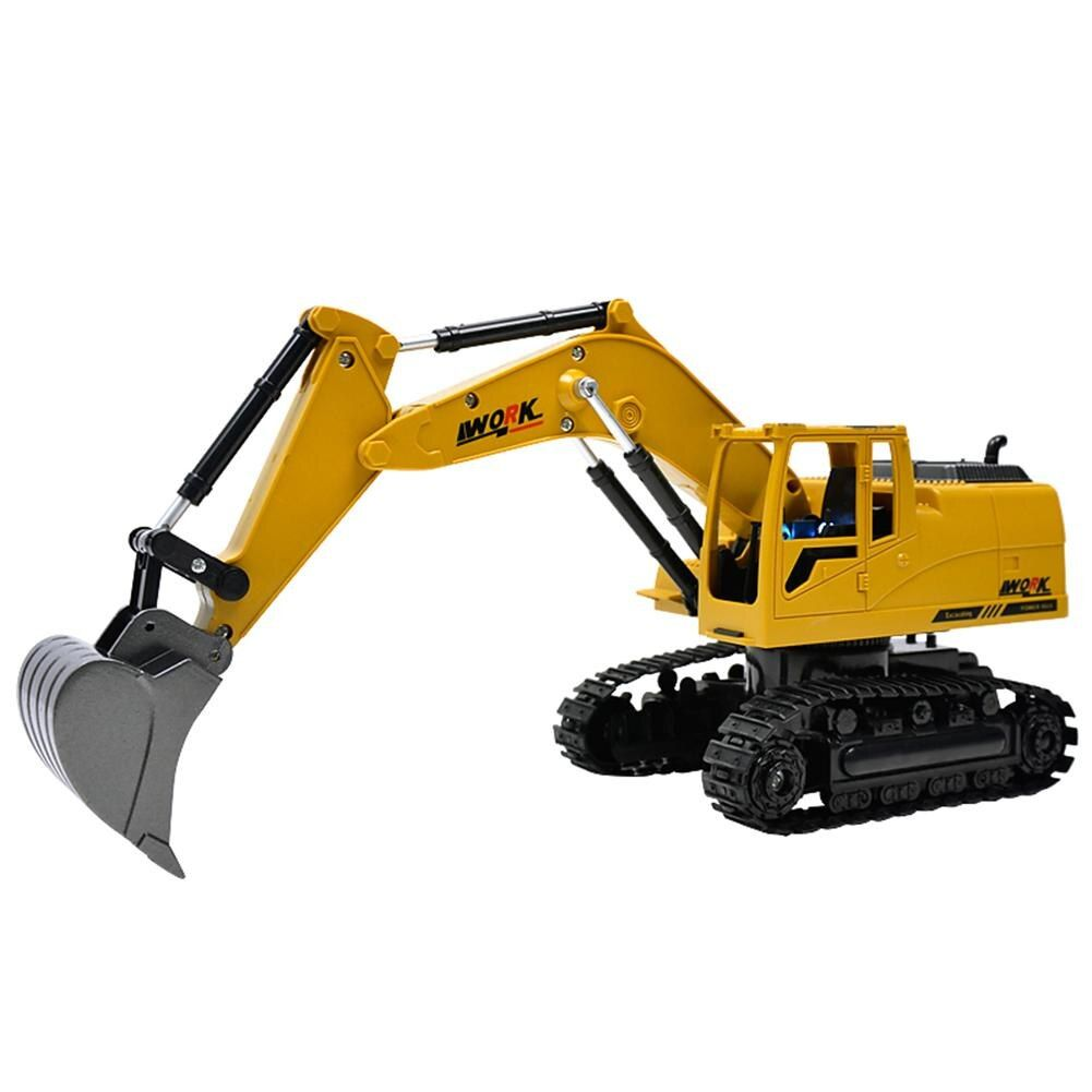 Remote Control Car Engineering 5CH 4 Shovelloader Excavator Charging RC Excavator And Light Electronic Toy Model