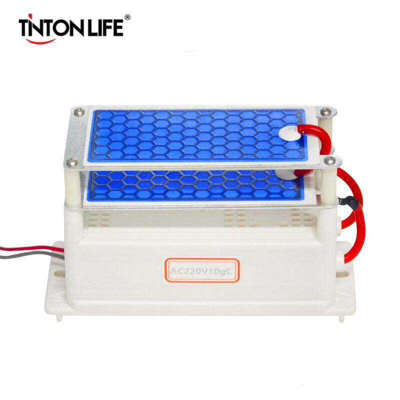 TINTON LIFE Portable Ceramic Ozone Generator Double Integrated Ceramic Plate Ozonizer Air Water Air Purifier 220V/110V 10g A2-10