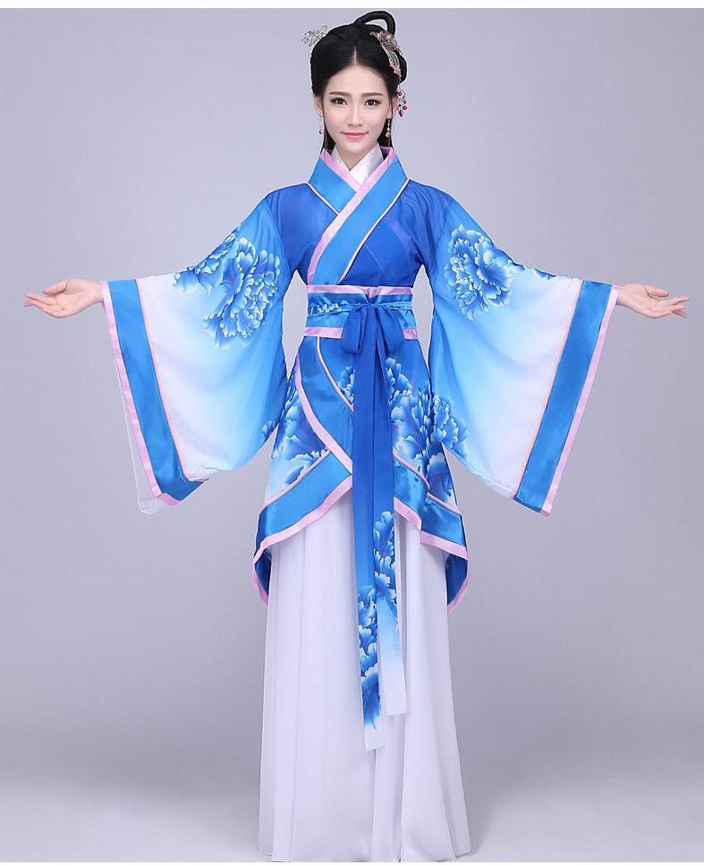 Hanfu Ladies' Song Fringing Costume Clothing Hanfu Female Summer <font><b>Fairy</b></font> Costume Outfit Modified Hanfu Ethnic Costumes Wind