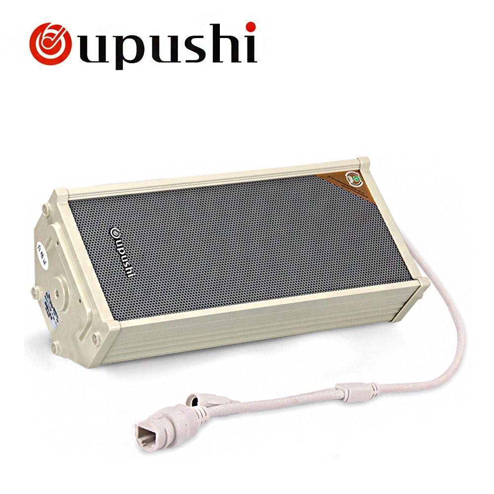 Oupushi Sans Fil IP Colonne Haut-Parleur Stéréo Extérieure POE Mur Haut-Parleur amplificateur Avec Le Logiciel, APP télécommande
