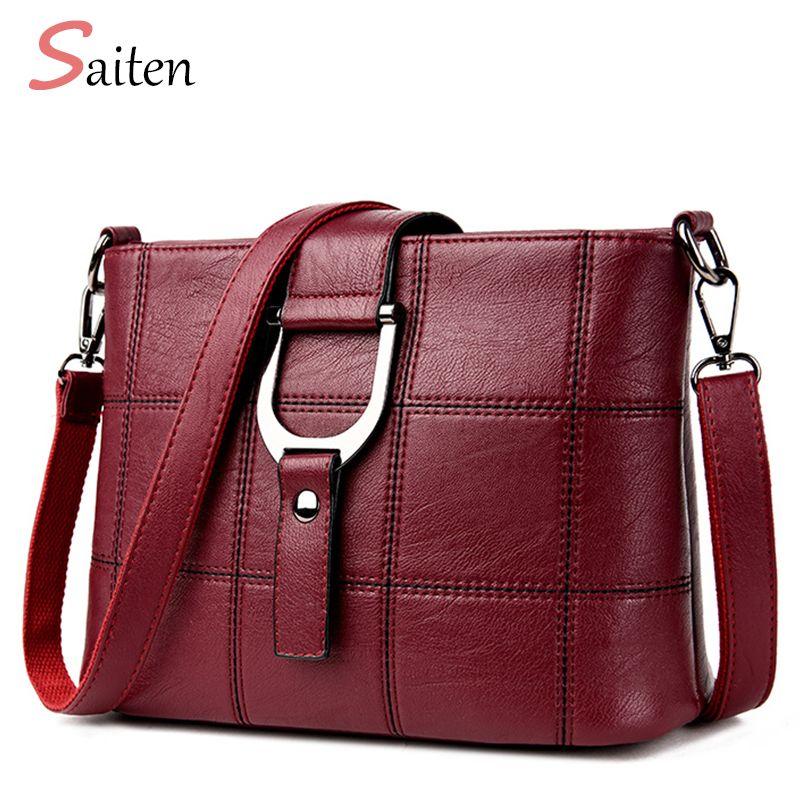 Luxury Women Messenger Bags Designer Woman Bag 2017 Brand Leather Shoulder Bags Tote Bag sac a main femme nouvelle collection
