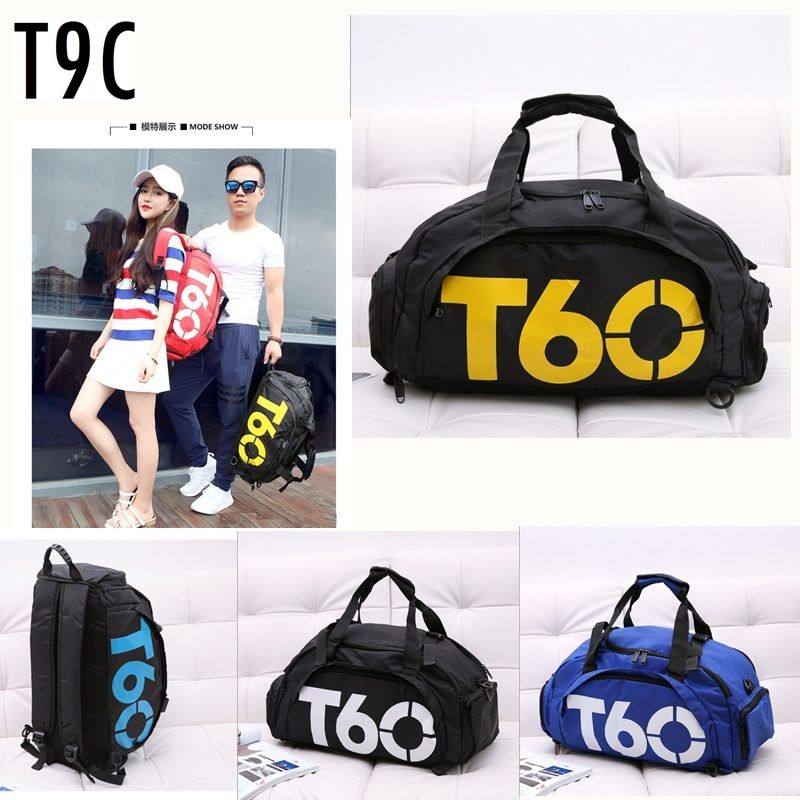 Multi-use Portable Shoulder Sports Bag Gym Backpack Separated Shoes Storage Fitness Bags Men Women Travel Daypack Sport Bag T60