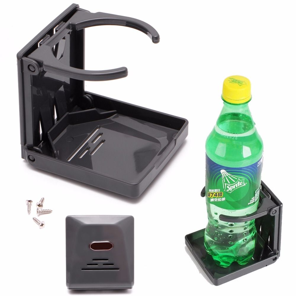 2018 Black Folding Drink Cup Can Bottle Holder Stand Mount Car Auto Boat Fishing Box