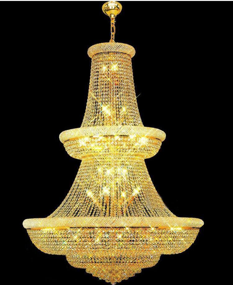 Top Qualität! Große Kristall Kronleuchter leuchte Gold Kristall Kronleuchter Garantiert 100% + Freies Verschiffen!