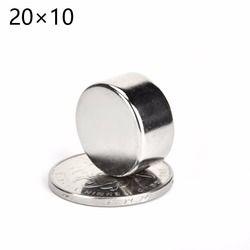 5 unids/lote 20mm * 10mm mini tamaño NdFeB imán de tierra rara 20x10 neo del neodimio n50 imanes Craft modelo Sábanas