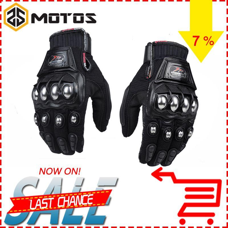 ZS Moto S madbike защитный Прихватки для мангала Moto rcycle Нержавеющаясталь спортивные Road Racing Шестерни Moto rbike Moto cicleta Guantes Moto Luvas