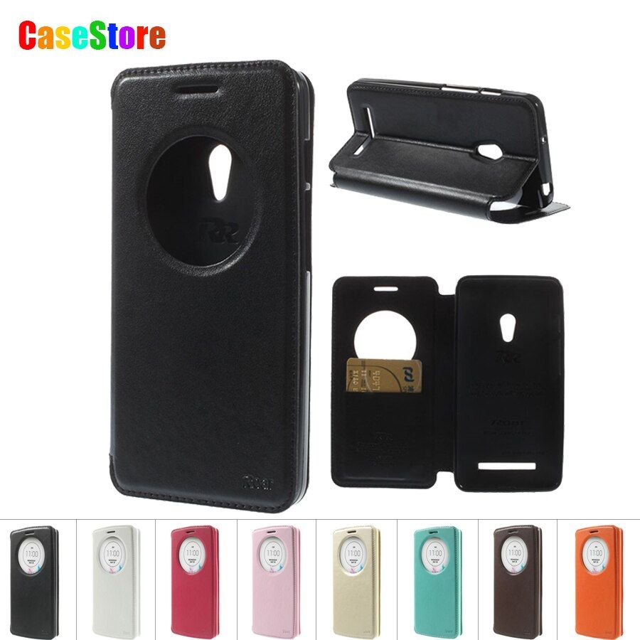 for ASUS Zenfone 5 Case Roar Korea Diary Cricle Smart View Window Leather cover for Asus Zenfone 5 A500KL A501CG With Package