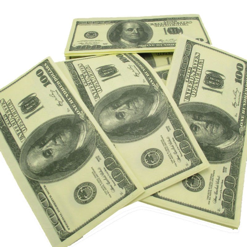 100$ Dollars Napkin Toilet Tissue US Dollar Bill Paper Towel Novelty Fun Tricky Gift
