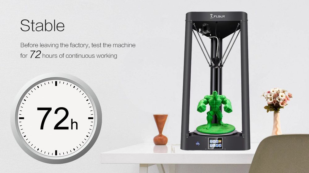 Flsun-QQ 3d Printer Metal Frame Large Size Pre-assembly Auto-level flsun High-speed Printer Hot Bed Touch Screen Wifi SD Card
