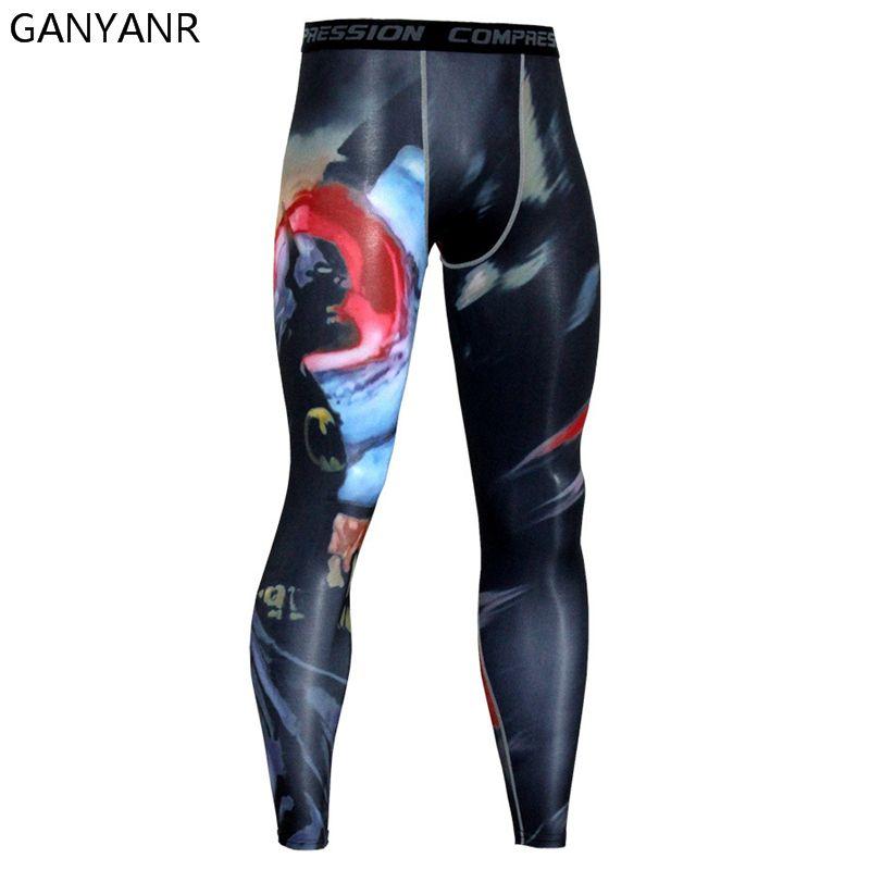 GANYANR Running Tights Men Yoga Pants Basketball Sports Leggings Fitness Gym Bodybuilding Sportswear Sexy Fitness Athletic Sexy