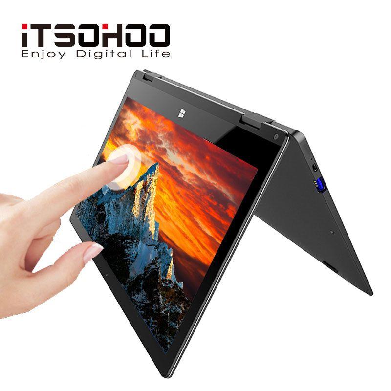 11,6 inch cabrio laptops 360 grad touchscreen notebook iTSOHOO 8GB RAM Metall Goldene laptop fingerprint entsperren computer