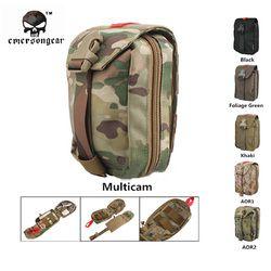 Emersongear Militer Pertolongan Pertama Kit Medis Kantong Molle Militer Airsoft Paintball Tempur Kantong EM6368 MultiCam AOR1 Emerson Gear