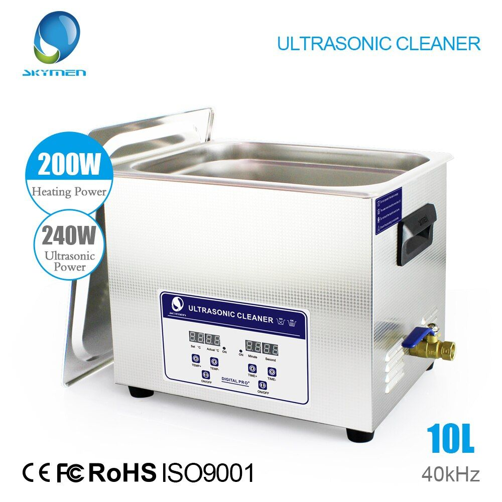 SKYMEN Ultrasonic Cleaner Solution Bath Wash Parts Tools Cutter Jewelry Dental 10L 240W Ultra sonic