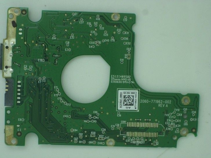HDD PCB logic board 2060-771962-000 REV A/P1 for WD 2.5 inch USB 3.0 hard drive repair data recovery WD5000LPVT