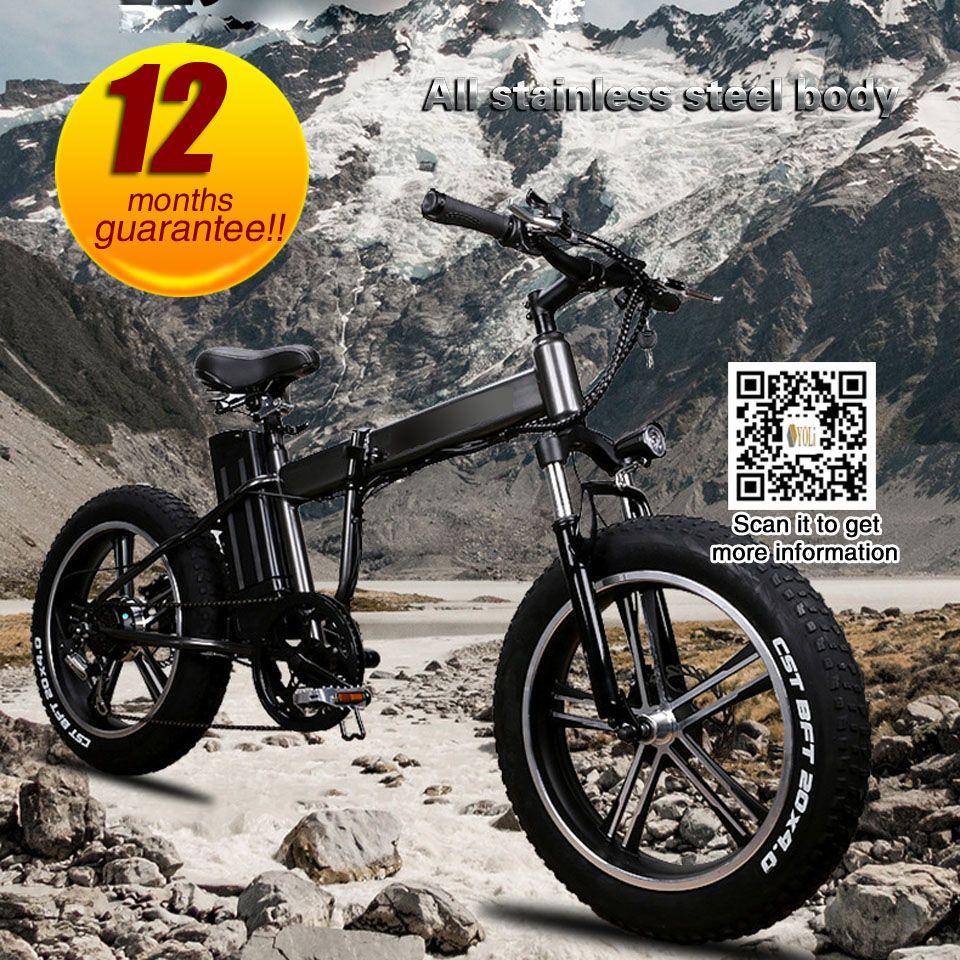 48 v 350 watt 10Ah lithium elektrische klapp elektrische fahrrad erwachsene breite reifen schnee bike 20 zoll klapp e bike batterie fahrrad für s