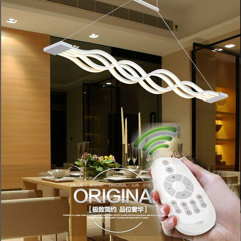 BLUE TIME L100CM 120cm New Creative Modern LED Pendant Lights Wave Hanging Lamp Dining Room Living Room Pendant Light 110V 220V
