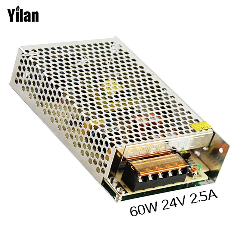 60W 24V 2.5A Small Volume Single Output Switching power supply for LED Strip light