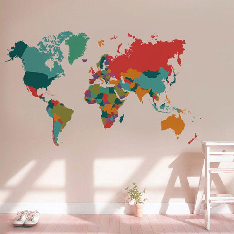 Изделие карта мира стикер Гостиная Спальня home decor ПВХ стикер импорт Большие размеры самоклеющиеся росписи наклеки