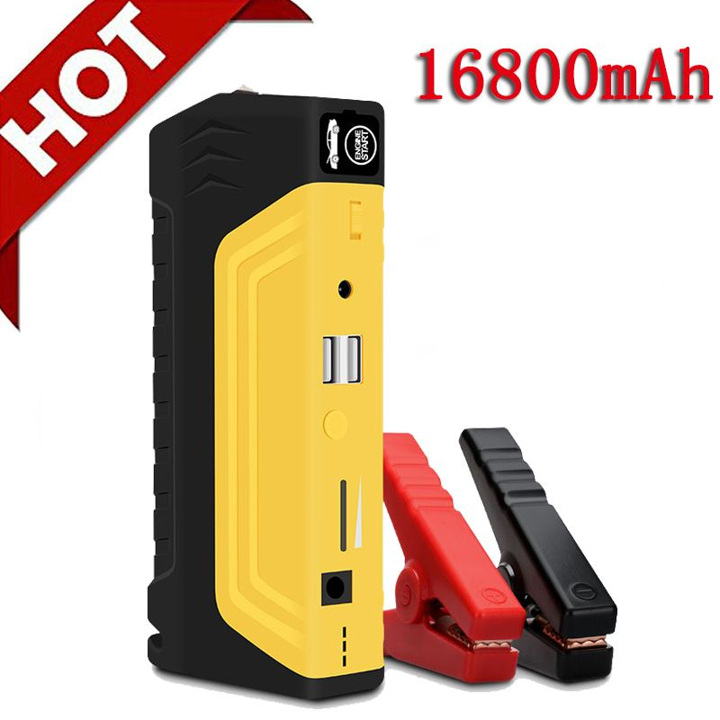 16800mAh 12V Car Battery Power Bank Car Jump Starter Portable 800A Peak Jump <font><b>Start</b></font> With Ordinary Cable And Four in One USB Cable