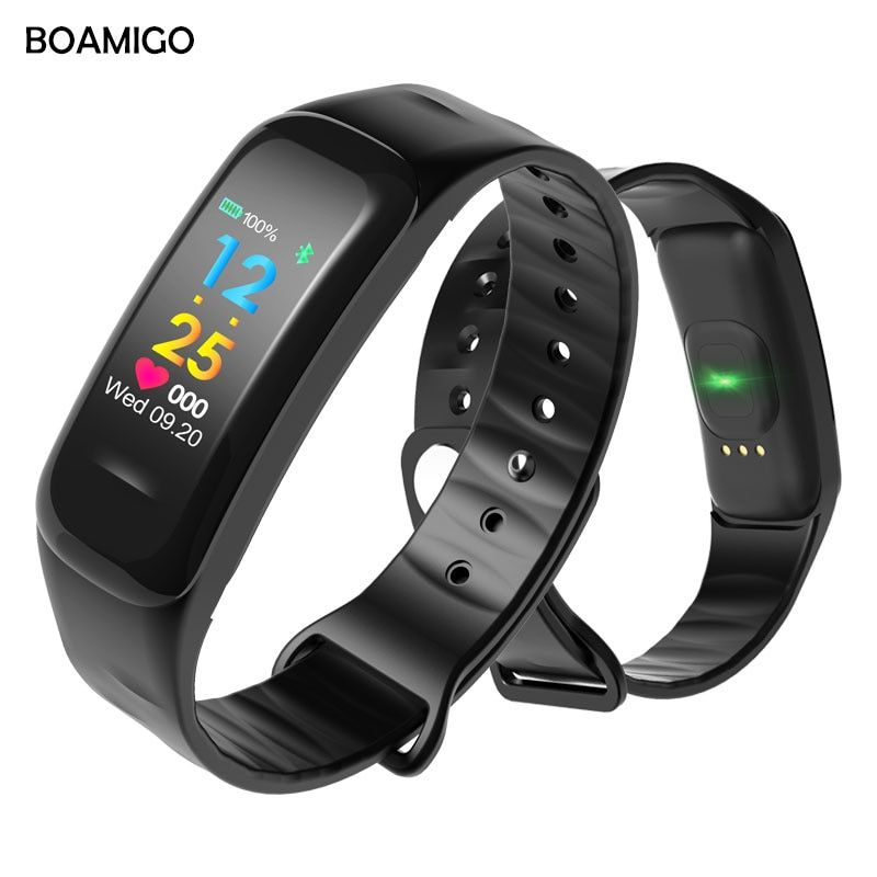 BOAMIGO Brand Smart Watch Fashion Smart Wristband Color Screen Call Message <font><b>Reminder</b></font> Pedometer Calorie Bluetooth For IOS Android