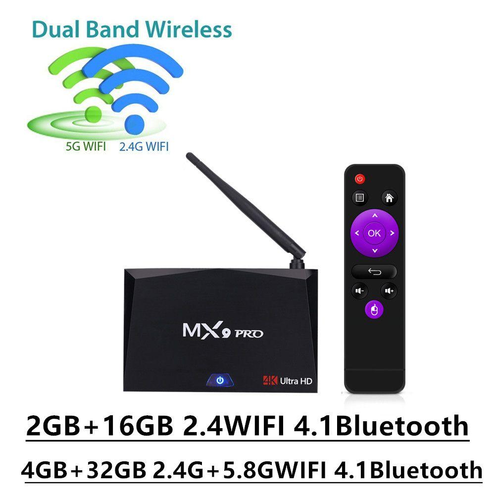 Mesuvida MX9 Pro 16GB/32GB Android 7.1 TV Box RK3328 Quad Core WiFi Bluetooth Media Player H.265 VP9 HDR 4K HD Smart Set Top Box