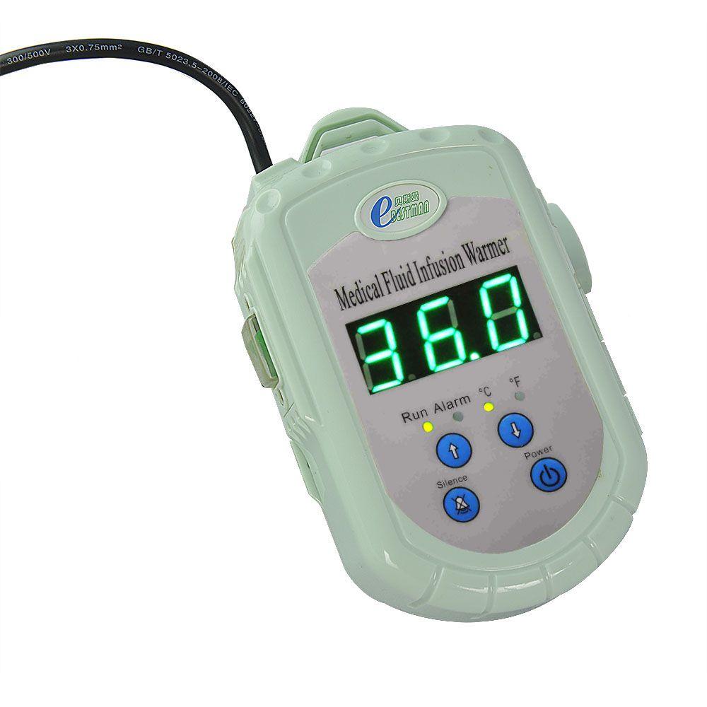 CE blut infusion wärmer flüssigkeitswärmer freies verschiffen led-anzeige flüssigkeit temperatur von 28 bis 41 celsius tragbare wärmer