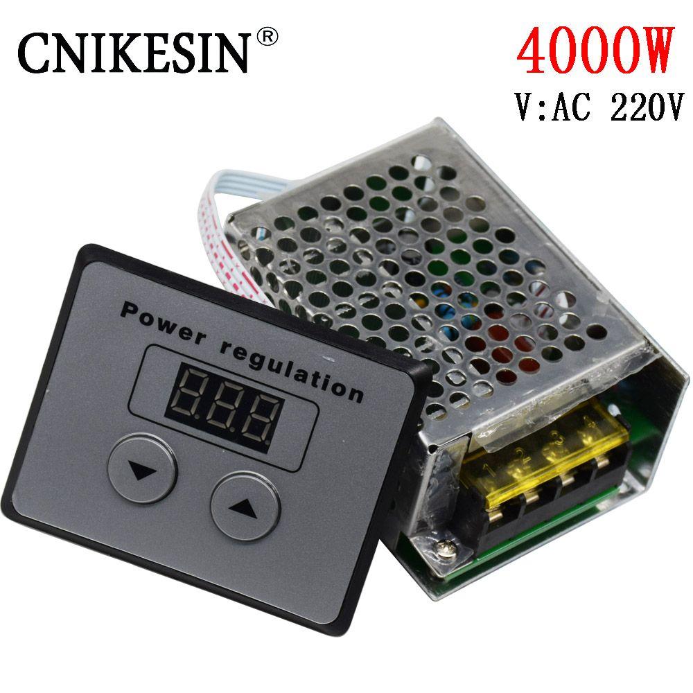 4000 w SCR haute puissance 220 w électronique régulateur de tension numérique, contrôle numérique, gradation, régulation de vitesse, contrôle de la température
