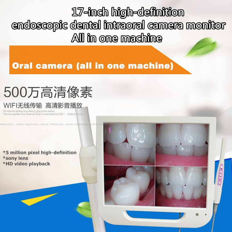 2016 new 17inch high definition endoscopic dental intraoral camera monitor one machine with Sony camera and with holder free