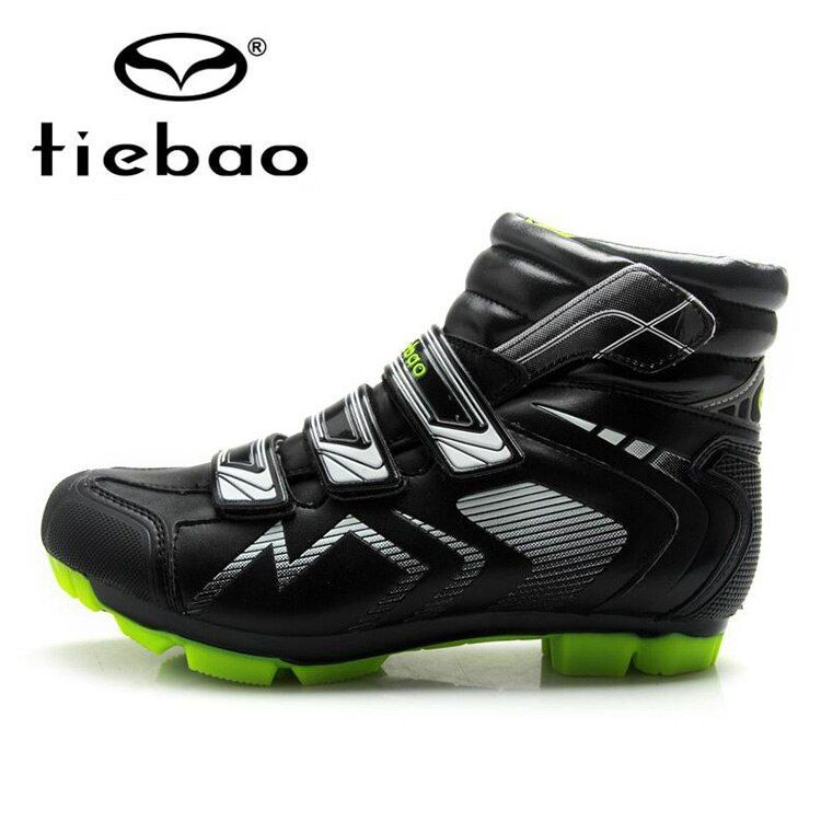 Tiebao Professional Men MTB Bicycle Cycling Shoes Winter Windproof Warm Self-Locking High Ankle Boots Mountain Bike Racing Shoes