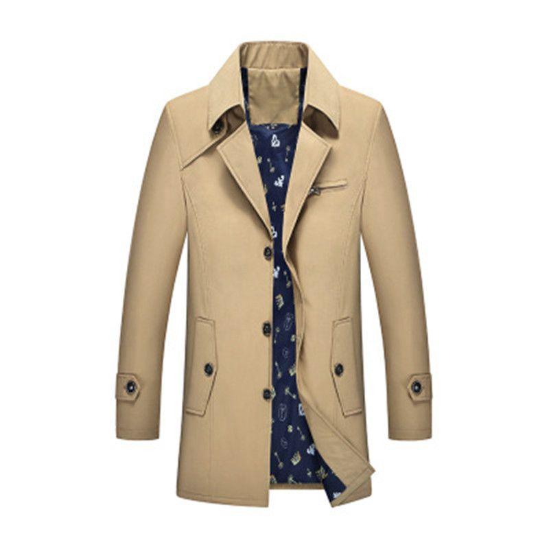 2018 fashion autumn new windbreaker men youth slim long coat 7PL02