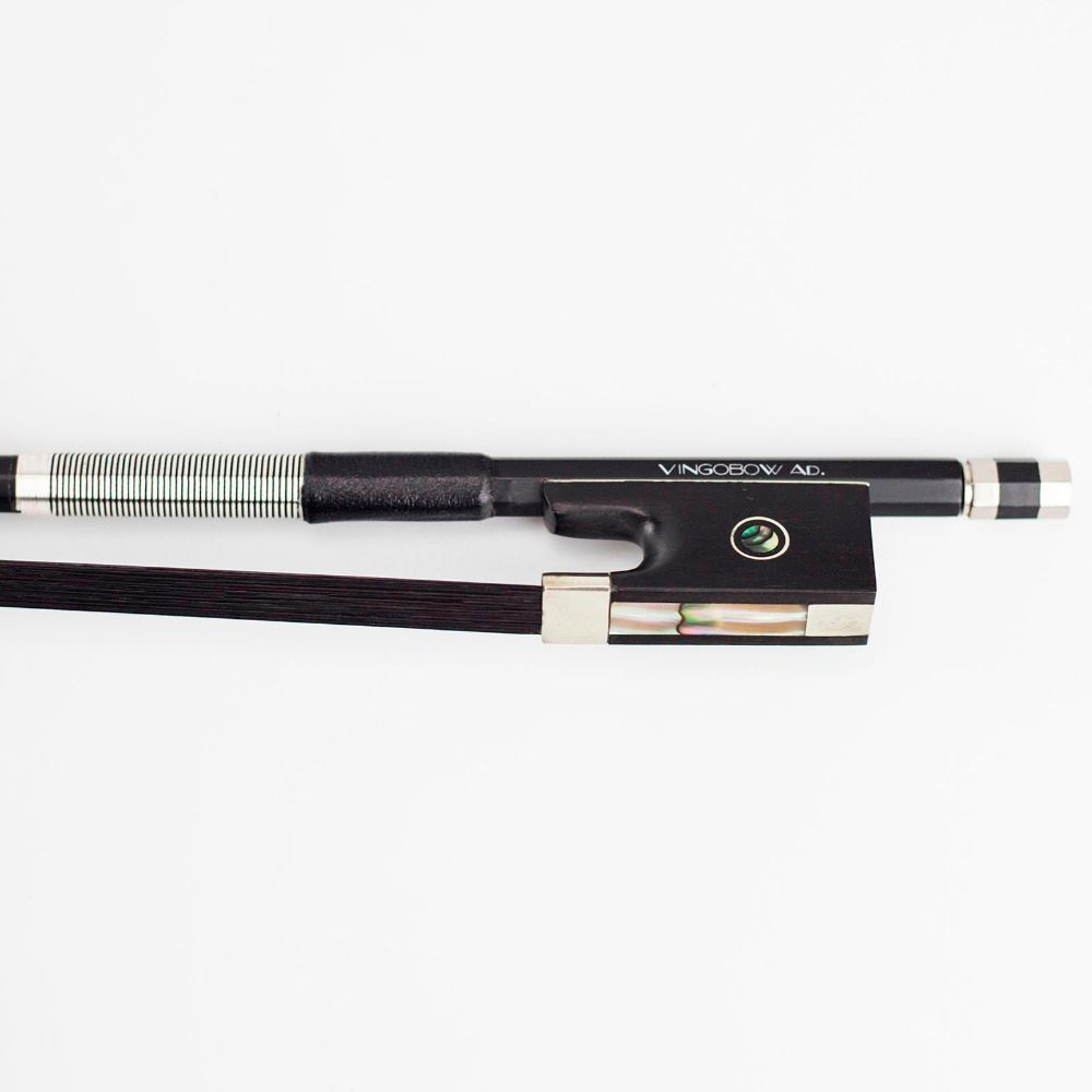 VingoBow 4/4 Size Carbon Fiber Violin Bow Pernambuco Performance Wild Tone Black Horse Hair for High Level Player 100VB Model