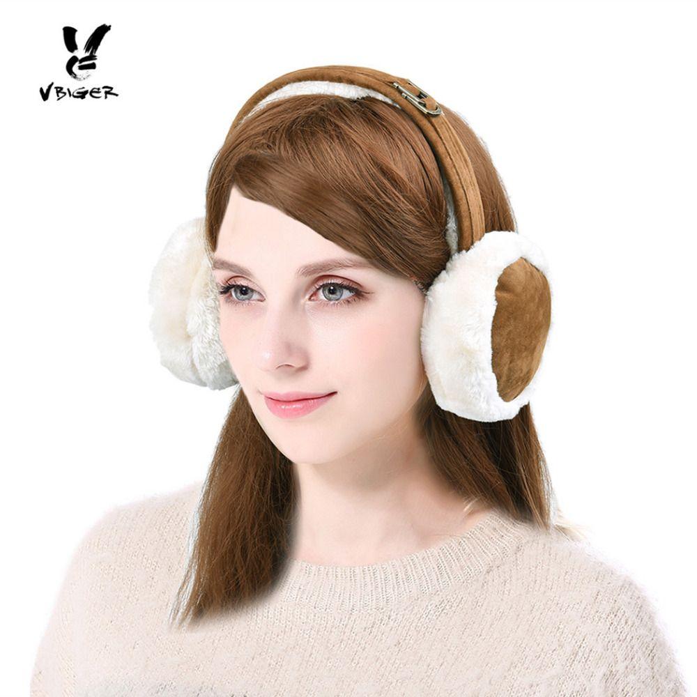 VBIGER Suede Ear Muffs Winter Warm Earmuffs Faux Fur Ear Warmer for Women Men