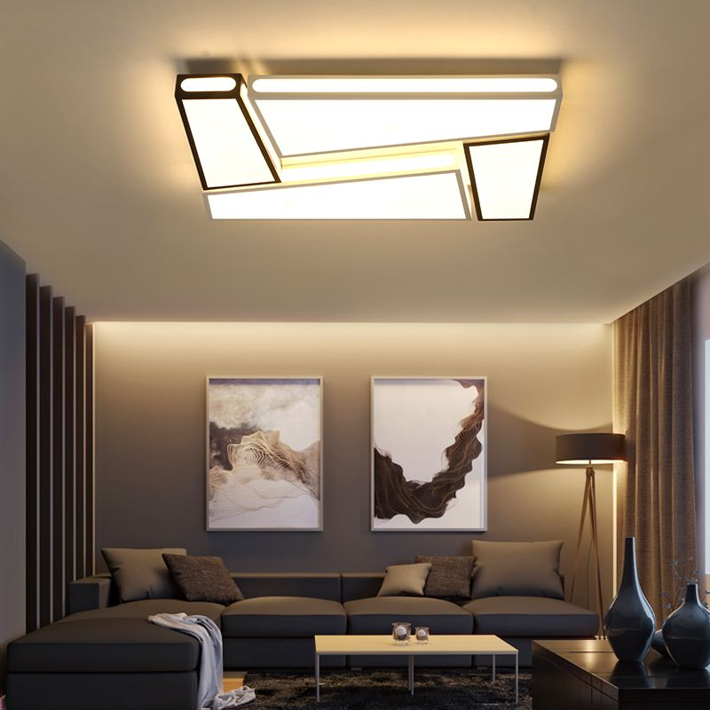 Creative simplicity modern Ceiling Lights black and white iron led ceiling lamp for living room bedroom lamparas de techo