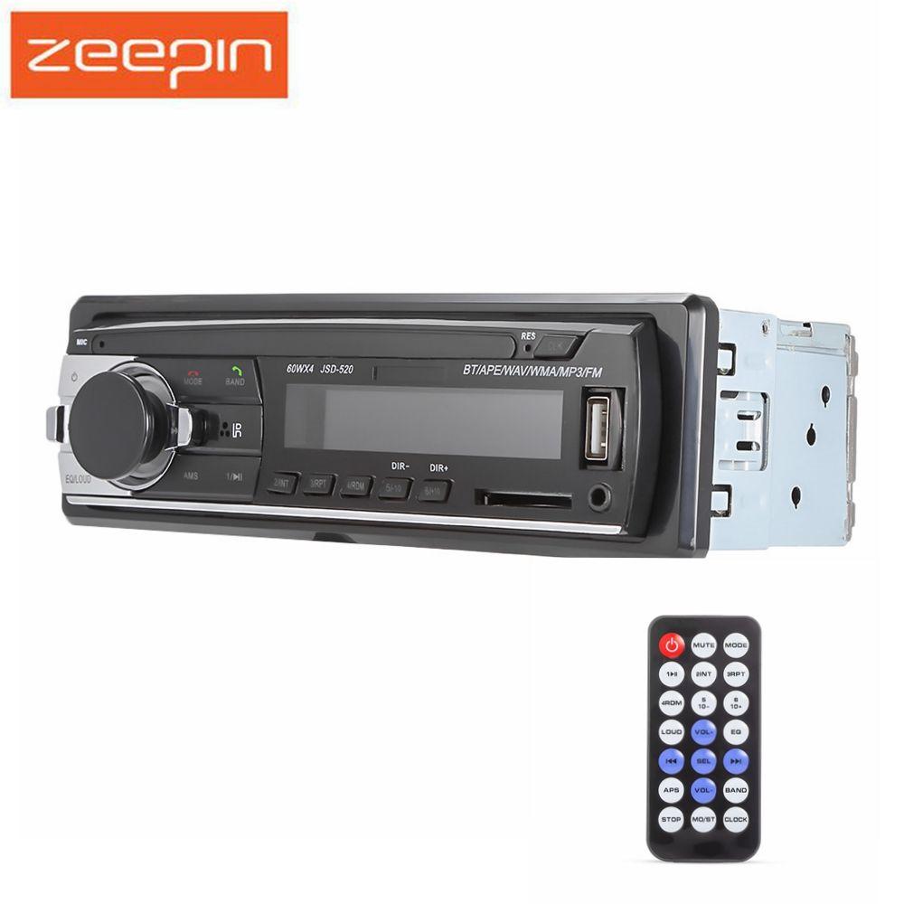 Bluetooth Car MP3 Player Audio Stereo 4X60W Car Radio 12V In-dash 1 Din FM Aux Input Receiver USB SD card Auto Radio Music Play