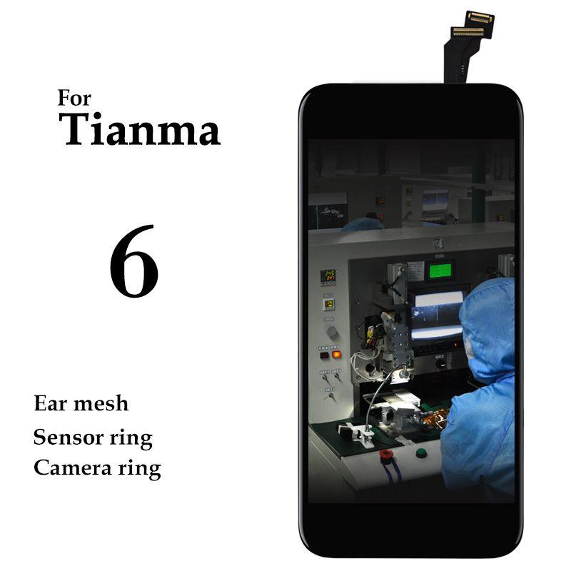 10 pièces pas de Pixel mort approvisila pour iPhone 6 LCD affichage Tianma noir blanc écran tactile panneau numériseur assemblée téléphone remplacement