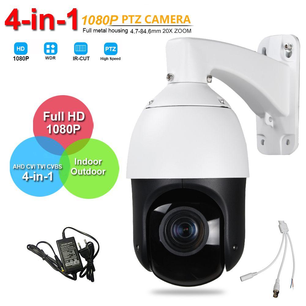 IP66 Outdoor Security FULL HD 1080P High Speed PTZ Camera AHD CVI TVI CVBS 4in1 Surveillance 20X ZOOM AHD Coaxial PTZ Control