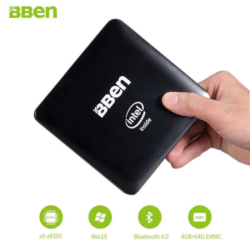 Bben-mn11 мини-ПК компьютера окно, с Intel z8350 CPU, 4 ГБ/64 ГБ EMMC, или 2 ГБ/32 ГБ, LAN WI-FI windows10 Mini PC