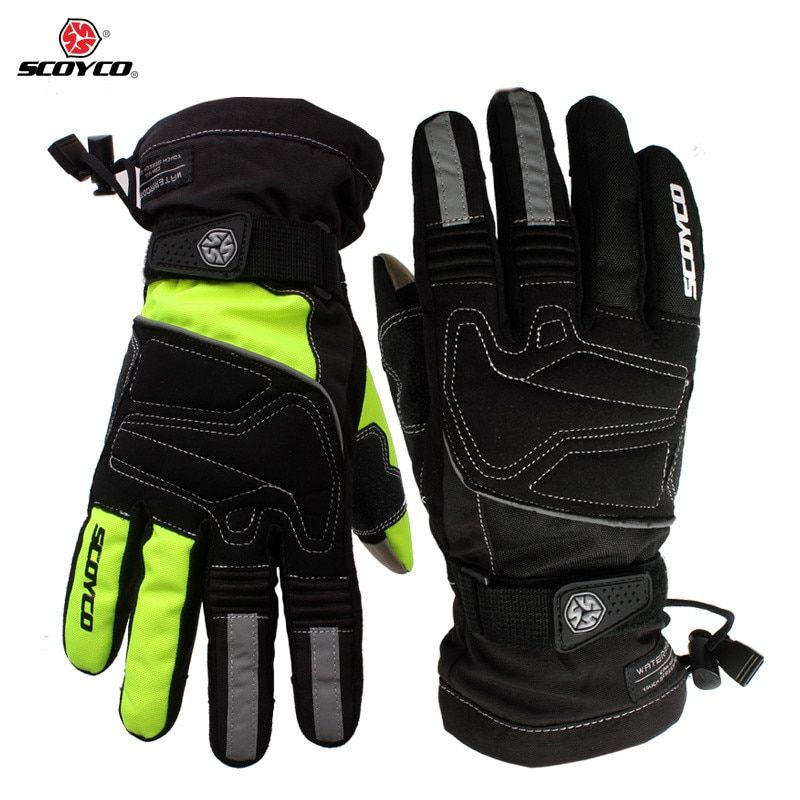 Motorcycle winter warm gloves Brand Scoyco MC30 moto touch screen gloves Waterproof windproof sports gloves Motocross Gear