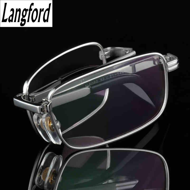 Cadre pliant titane lunettes cadres hommes optique lunettes cadre lecture clair lunettes Prescription lunettes lentilles or 6090