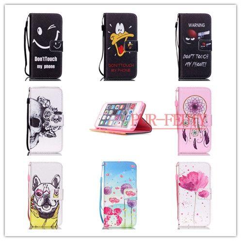 Imprimé Cas Pour coque iphone 6 S 6 S 6G 4.7 pouce Cas Flip Stand de Pochette En Cuir PU Cas de Téléphone Pour fundas iphone 6 S Couvre