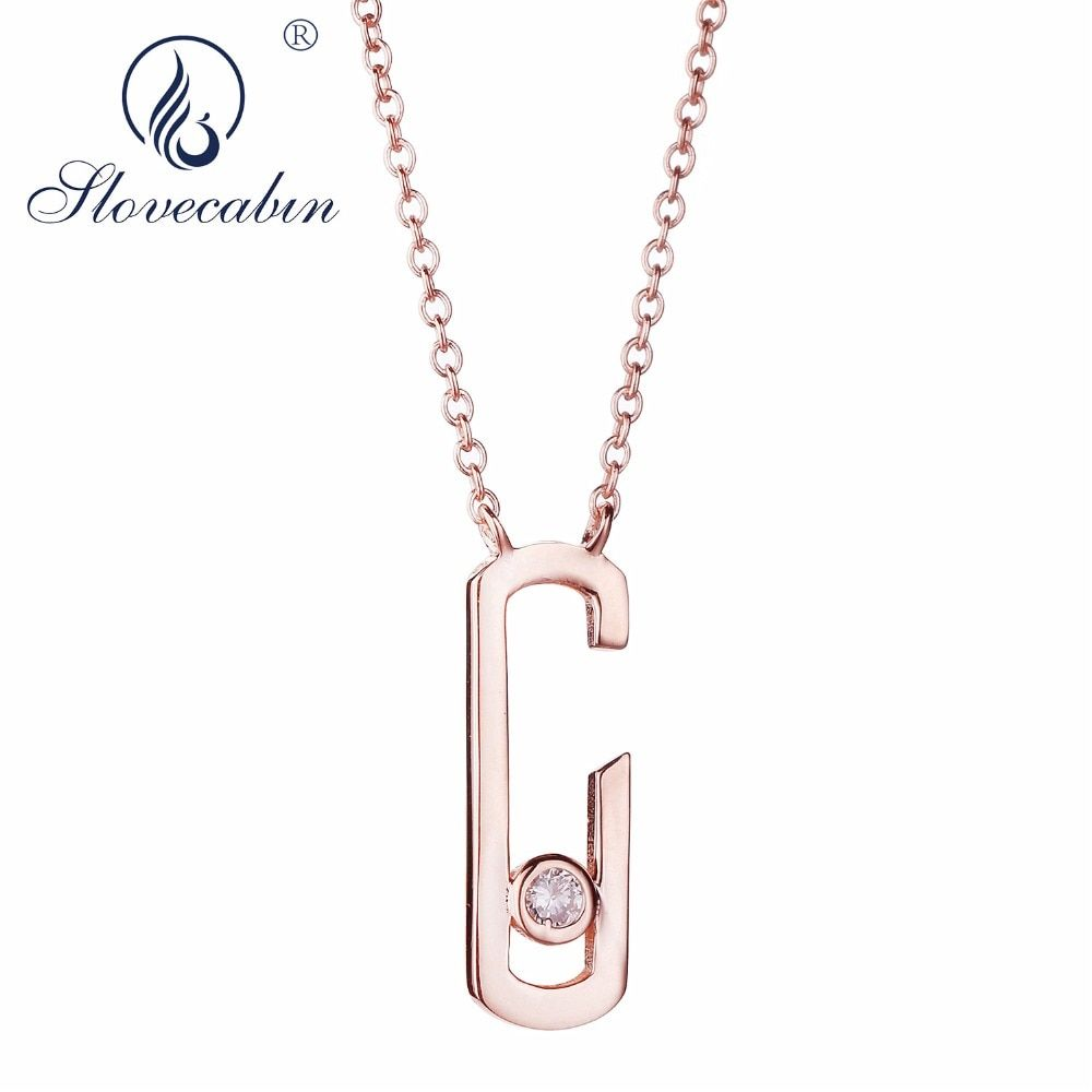 Slovecabin 925 Sterling Silver European 2018 Rock Jewelry Three Color Drop Pendant Pave Zircon Punk Move Addiction Necklace