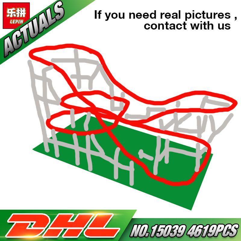 In Stock DHL Lepin 15039 The 10261 Roller Funny Model Coaster Set Building Series Buidling Blocks Bricks Kids Toys Model Gifts