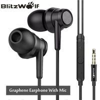 BlitzWolf BW-ES1 3,5 мм In-Ear шумоподавление наушники стерео наушники Графен наушники с микрофоном для мобильного телефона