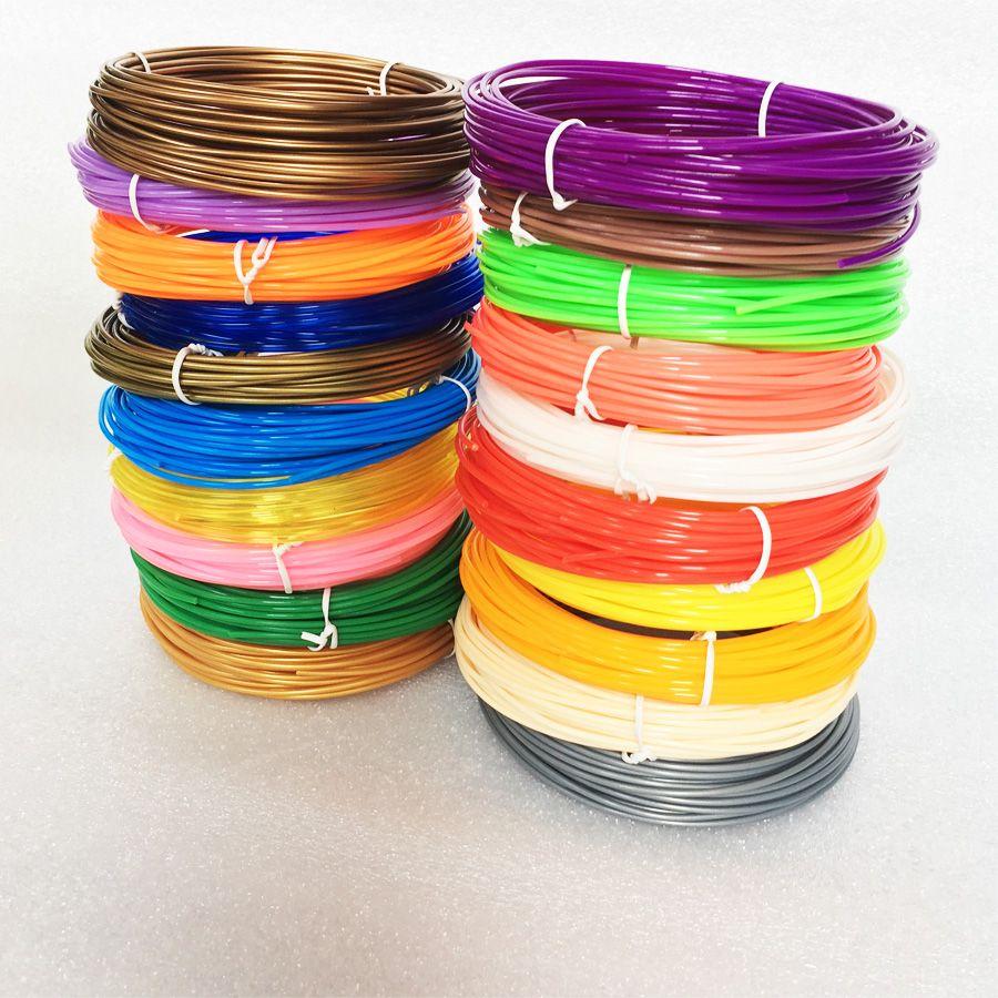 3D ручка нити заправки 1.75 мм ABS/PLA-20 различных Цвета (2 светятся в темноте) Для 3D печать ручки