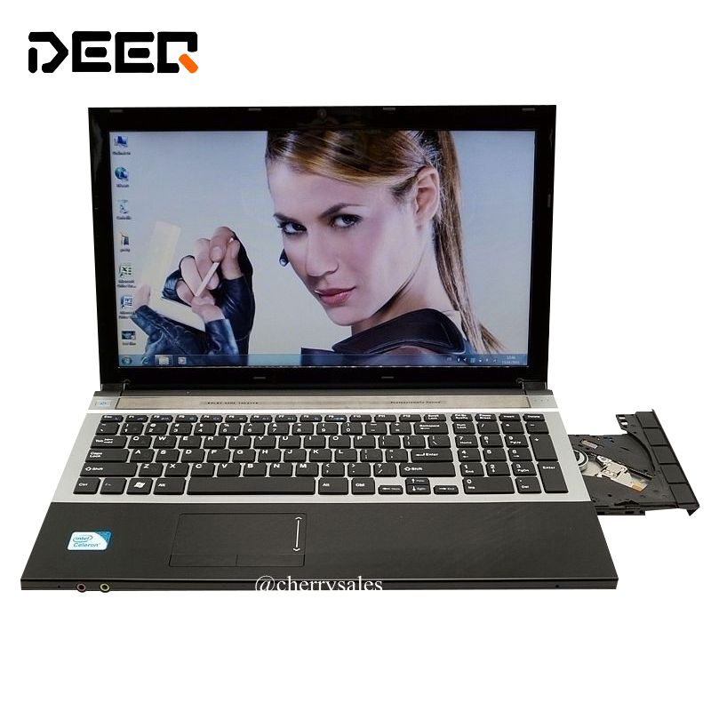 8G+1TB 15.6inch Quad Core Fast Surfing Windows 7/8.1 Notebook PC Laptop Computer with DVD ROM for school,office or home