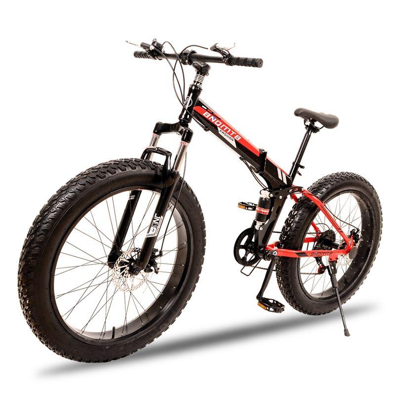 wolf's fang Folding Mountain Bike 7/21/24 speed 26X4.0