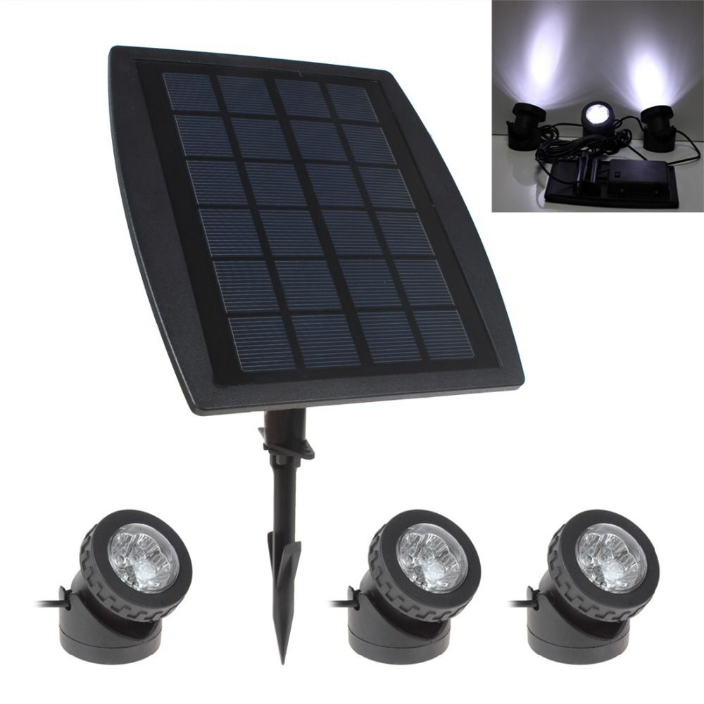 Hot Sale BSV-SL318 3 x 6 White Light LEDs Waterproof Adjustable Solar Powered Garden Lamp + 1 x Solar Panel