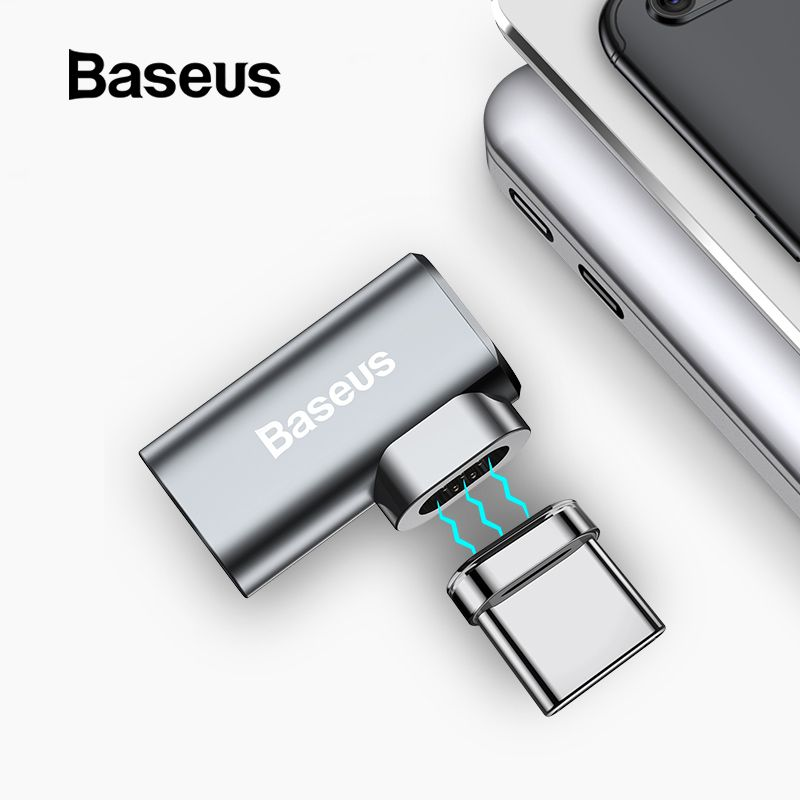 Baseus 86W Magnetic USB C Adapter for MacBook Pro 15inch 6 Pins Elbow USB Type C Charge Connector for Samsung USB Adapter