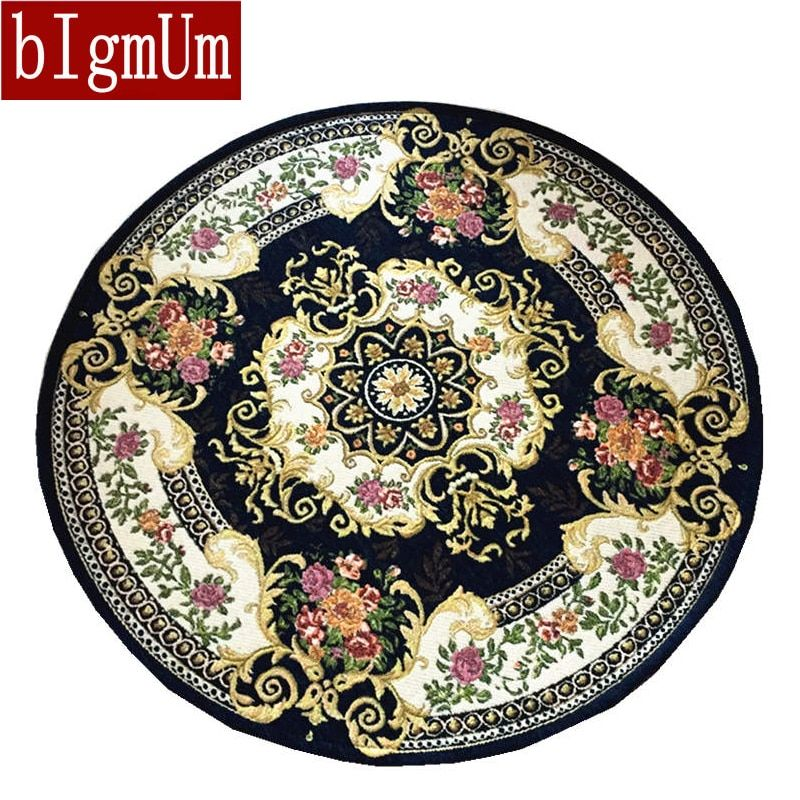 bIgmUm Round Rugs Home Carpet Living Room Area Decor Soft Door Carpets Embroider Bedroom Floor Rugs Slip Resistant Mats